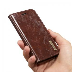 DG.MING Microfiber Genuine Leather 2 in 1 Stand Case for iPhone 6 Plus / 6s Plus -