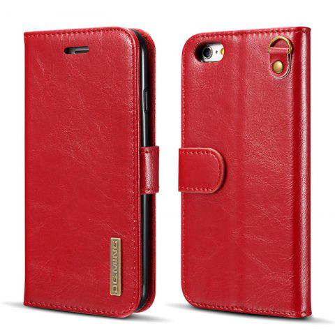 New DG.MING Microfiber Genuine Leather 2 in 1 Stand Case for iPhone 6 Plus / 6s Plus