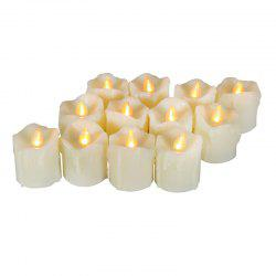 12PCS Realistic Flickering Flameless Candles with Timer -