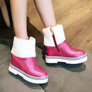 Round Bottom and Flat Bottom Increase Fashionable Short Boots -