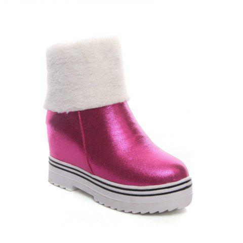 Trendy Round Bottom and Flat Bottom Increase Fashionable Short Boots