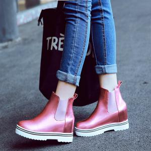 Flat Bottom and Flat Bottom Increase Casual Short Boots -
