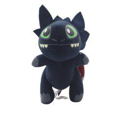 Q Version Animal Black Dragon Plush Doll Stuffed Toy -