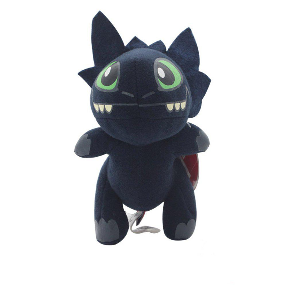 Best Q Version Animal Black Dragon Plush Doll Stuffed Toy