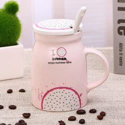 400Ml Summer Profusion Creative Ceramic Cup -