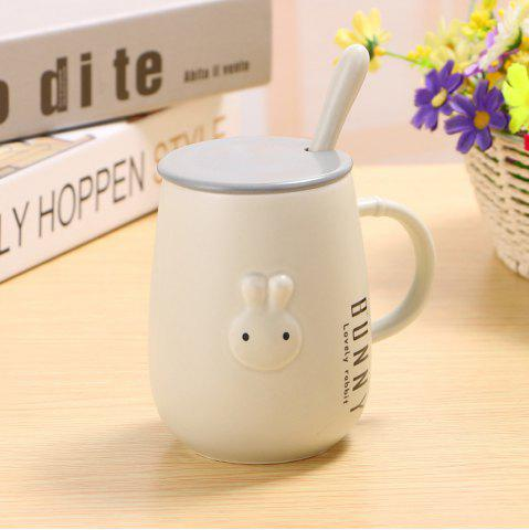 Latest 400ML Creative Embossed Cute Rabbit Mug