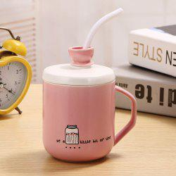 400Ml Straw Colored Glazed Candy-colored Ceramic Cup -