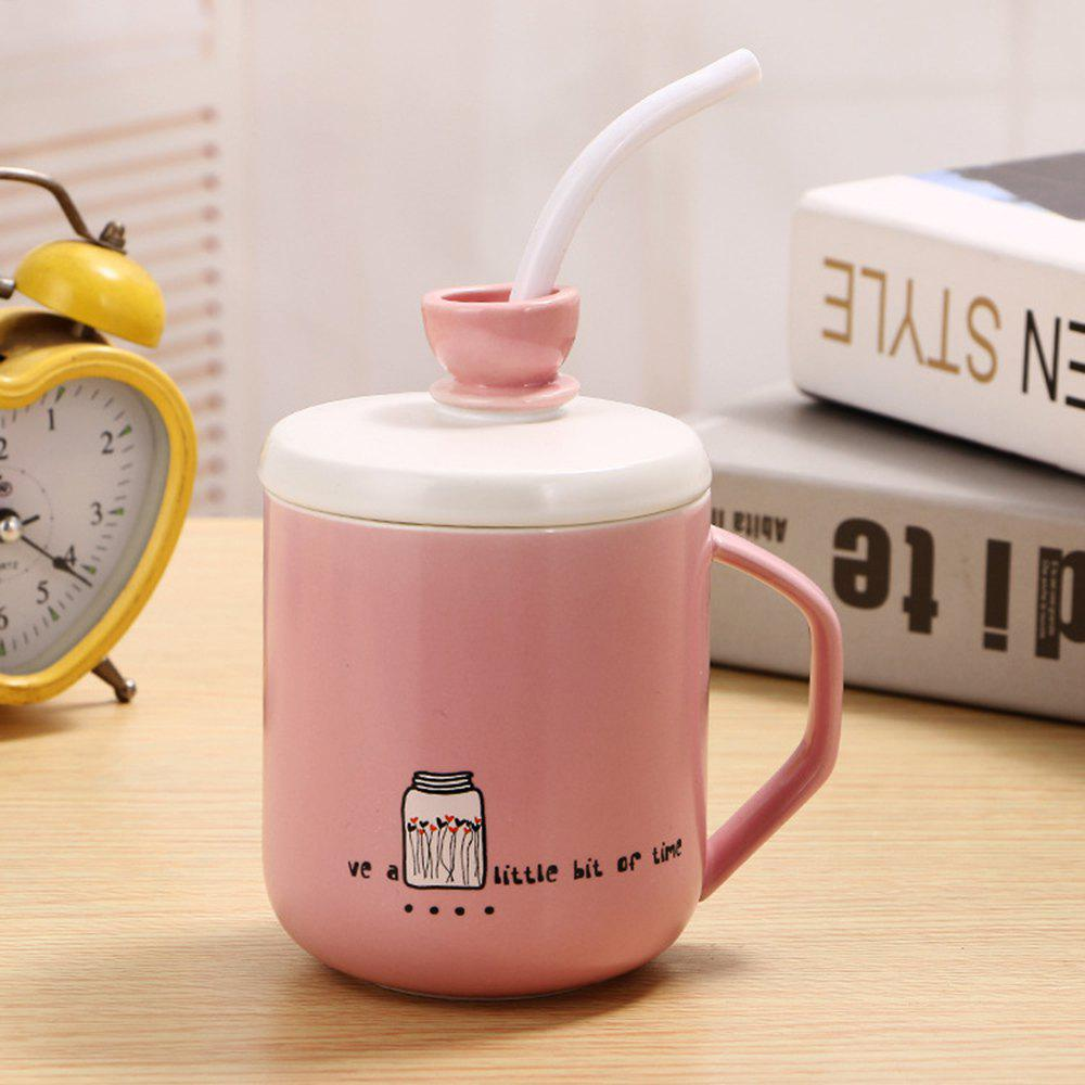 Sale 400Ml Straw Colored Glazed Candy-colored Ceramic Cup