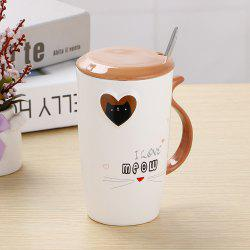 200ML Cartoon Embossed Love Ceramic Cup -