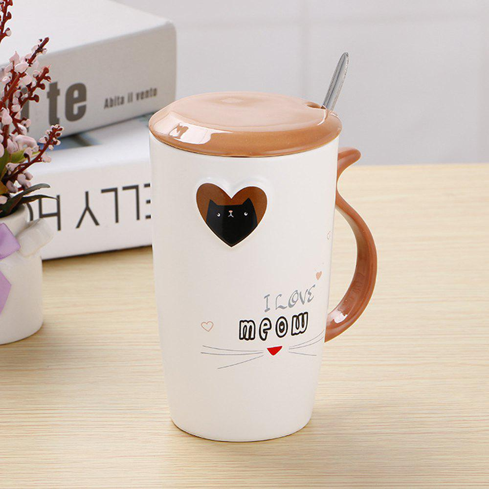 Outfit 200ML Cartoon Embossed Love Ceramic Cup