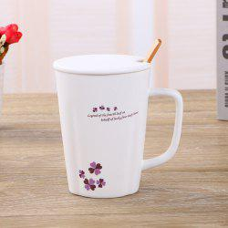 Tasse fleur simple de 360ML -