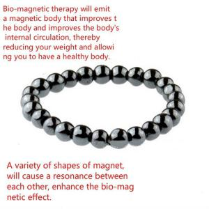 New Biomagnetic Multi-shaped Black Stone Magnetic Bracelet, Magnetic Health Weight Loss Hand for Men and Women -