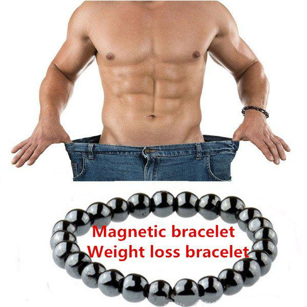 Chic New Biomagnetic Multi-shaped Black Stone Magnetic Bracelet, Magnetic Health Weight Loss Hand for Men and Women