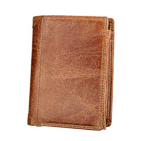 Chic Men Leather Wallet Multifunctional Vertical Section Male Purses