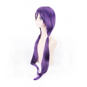 80cm Long Straight Hair Purple Color Anime Cosplay / Halloween Party Wig for Women -