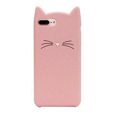 Unique Pattern Back Cover Beard Cat Soft Silicone Case for iPhone 8 Plus / 7 Plus
