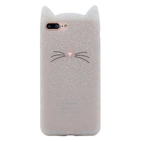 Hot Pattern Back Cover Beard Cat Soft Silicone Case for iPhone 8 Plus / 7 Plus