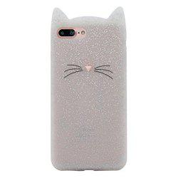 Pattern Back Cover Beard Cat Soft Silicone Case for iPhone 8 Plus / 7 Plus -