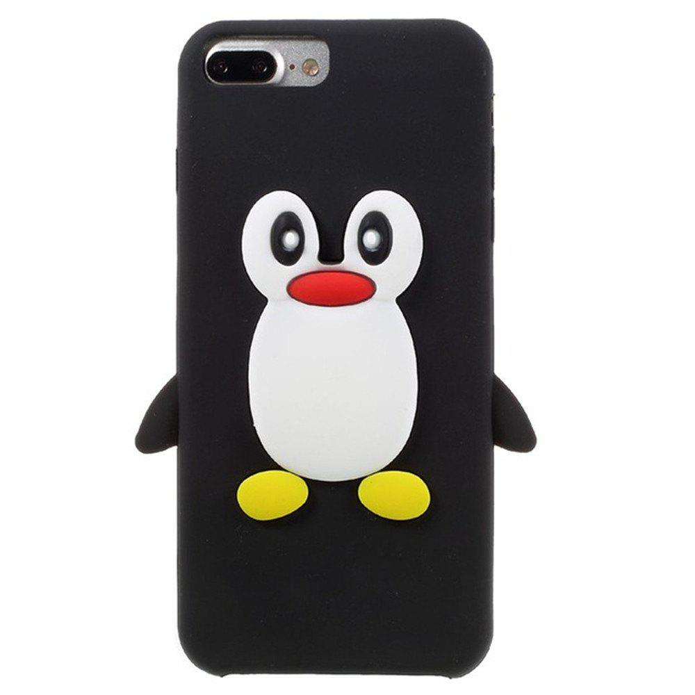 Discount Case For iPhone 8 Plus  / 7 Plus Pattern Back Cover Cartoon Penguin Soft Silicone