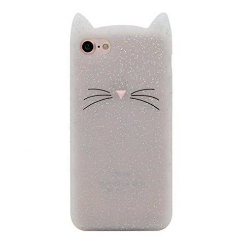 Unique Case For iPhone 8 / 7 Pattern Back Cover Beard Cat Soft Silicone