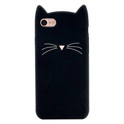 Case For iPhone 8 / 7 Pattern Back Cover Beard Cat Soft Silicone -