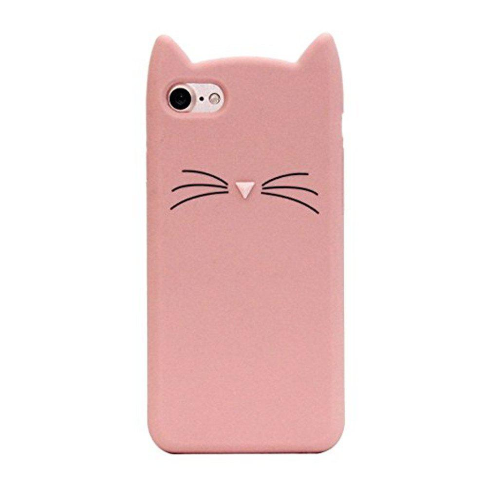 Cheap Case For iPhone 8 / 7 Pattern Back Cover Beard Cat Soft Silicone