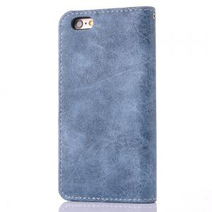 Vintage Small Hit Color PU Leather Wallet Case for iPhone 6 -
