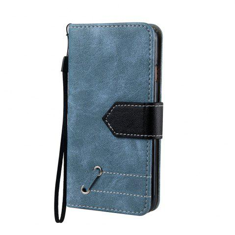 Outfit Vintage Small Hit Color PU Leather Wallet Case for iPhone 6