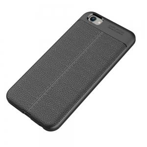 Contracted Leather Business Litchi Pattern PU Soft TPU Cover Case for Vivo X9 -