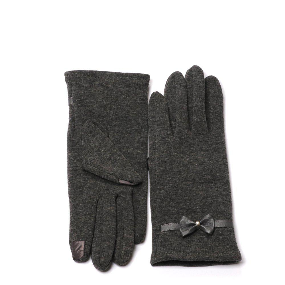Hot Winter Gloves for Women with Touch Screen Fingers Warm Texting Bowknot