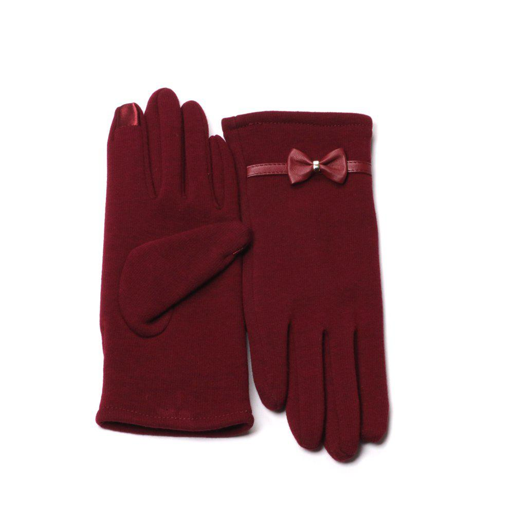 Outfits Winter Gloves for Women with Touch Screen Fingers Warm Texting Bowknot