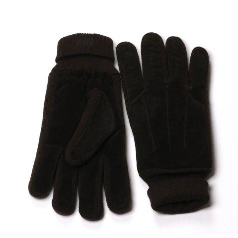 Outfit Winter Warm Knit Cuff Men Gloves