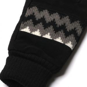Winter Warn Knit Pattern and Cuff Men Gloves with Non-slip Rubber -