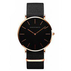 Hannamading CH02 4893 Leisure  Simple  Waterproof Canvas Band Women Watch -