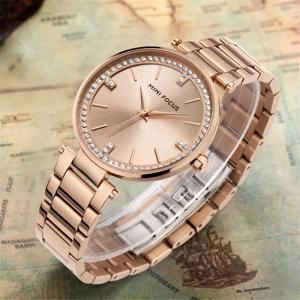 MINIFOCUS MF0031G 4292 Fashion  Leisure Waterproof Steel Band Quartz Lady Watch -