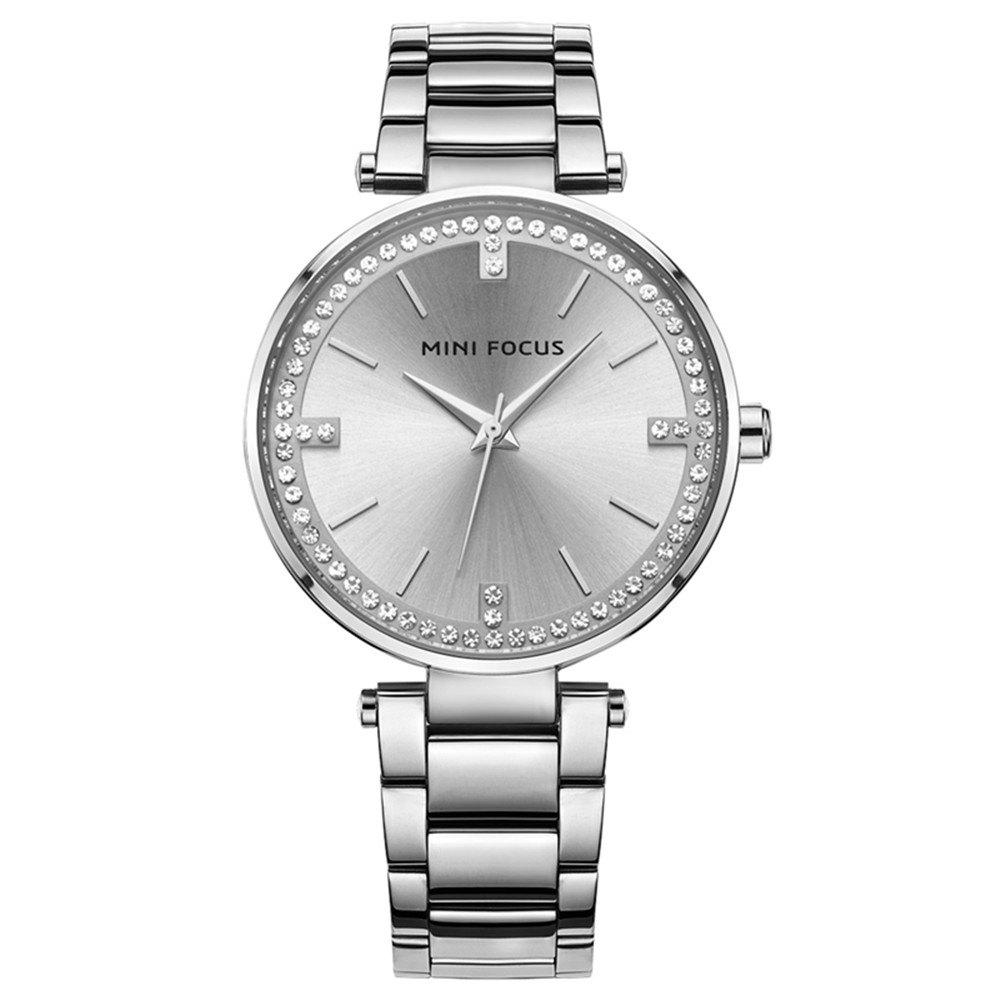 Hot MINIFOCUS MF0031G 4292 Fashion  Leisure Waterproof Steel Band Quartz Lady Watch