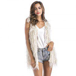 Europe And The United States Autumn And Winter Sleeveless Sweater coat -