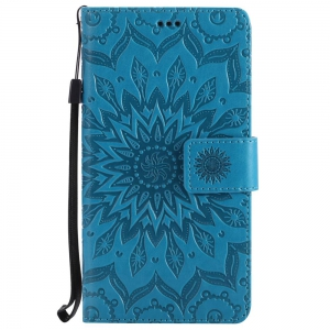 Embossed Sun Flower PU TPU Phone Case for Xiaomi Red Note3 -