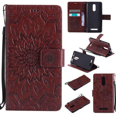 Outfit Embossed Sun Flower PU TPU Phone Case for Xiaomi Red Note3