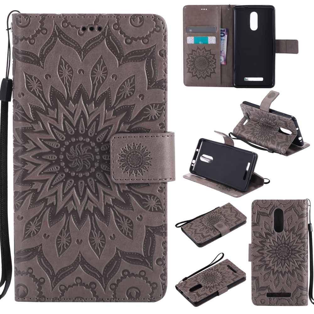 Buy Embossed Sun Flower PU TPU Phone Case for Xiaomi Red Note3