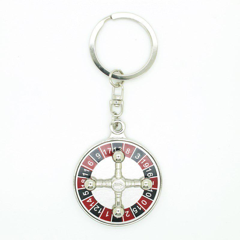 Chic Creative Rotatable Rudder Pendant Key Chain