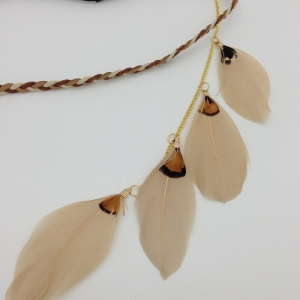 Original Handmade Feather Hair Accessories Indian Feather Jewelry -