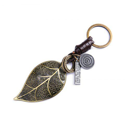 Discount Men's Key Rings Stylish Leaf Shape Fashion Alloy Chain Accessories