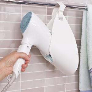 Bathroom Storage and Rack Wall Mounted Hair Dryer Holder -