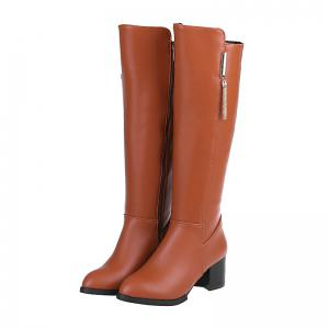 Pointed Heel Knight Boots -