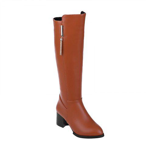 Affordable Pointed Heel Knight Boots