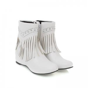 Inside The Head Increases The Fashionable Diamond Fringe Short Boots -