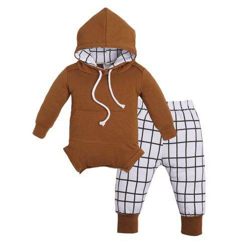 2pcs Newborn Baby Kids Long Sleeve Tops Pants Hat Boy  Lovely Outfits