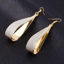 New Fashion Women Scrub Water Drop Earrings -