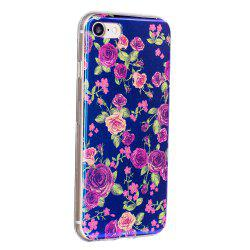 Blue Glitter Rose Pattern Phone Case for iPhone 8 -